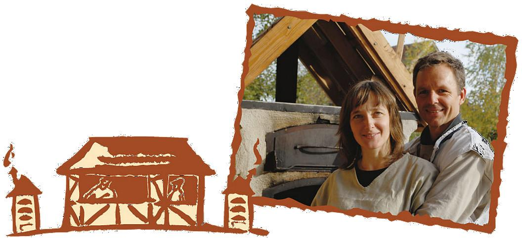 Gründer der ersten mobilen Holzofenbäckerei; Alfons Boos und Gehmahlin Nina